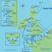 UK ferry routes: Map courtesy of Discover Ferries