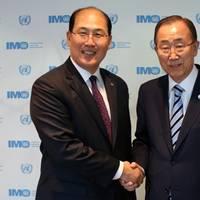 UN Secretary-General Ban Ki-moon (right) met IMO Secretary-General Kitack Lim (Photo: IMO)