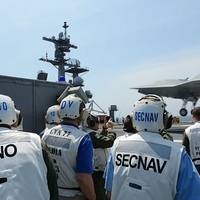 Unmanned Aircraft Lands on Aircraft Carrier: Photo credit USN
