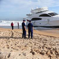 USCG Monitor Yacht Salvage Attempt: Photo credit USCG