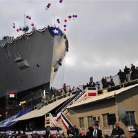 USNS Cesar Chavez (T-AKE-14) was christened and launched at General Dynamics National Steel and Shipbuilding Company's shipyard in San Diego, May 5, 2012 (U.S. Navy photo by MCSN Jasmine Sheard)