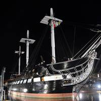 USS Constitution enters Dry Dock 1 in Charlestown Navy Yard to commence a multi-year planned restoration period. This is Constitution's first time in dry dock since its 1992-1996 restoration. (U.S. Navy photo by Mass Communication Specialist Seaman Matthew R. Fairchild/Released)