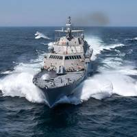 USS Detroit (LCS 7) conducts acceptance trials. (U.S. Navy photo courtesy of Lockheed Martin-Michael Rote)