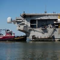 USS Enterprise docking: Photo credit HII