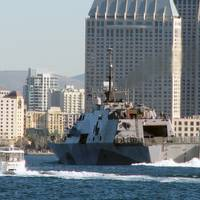 USS Freedom arrives San Diego: Photo credit USN