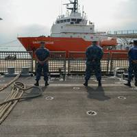 USS Freedom departs for SEACAT: Photo credit USN