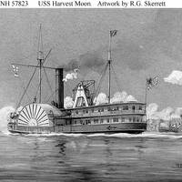 USS Harvest Moon (Wash drawing by R.G. Skerrett, 1903, depicting the ship underway during the Civil War. Courtesy of the Navy Art Collection, Washington, D.C. U.S. Naval Historical Center Photograph.)