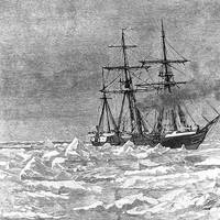 USS Jeannette in 1879. Engraving by George T. Andrew after a design by M.J. Burns. (U.S. Naval History and Heritage Command Photograph)