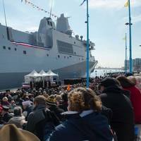 USS Somerset commissioning: Photo credit USN