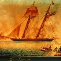 USS Washington Intercepts La Amistad off the Coast of Long Island, N.Y. in 1839. Photo: New Haven Colony Historical Society