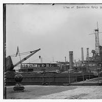 Utah (BB-31) at Brooklyn Navy Yard. (Photo: Boston Public Library, Leslie Jones Collection)