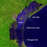 Venice & Lagoon Inlets:Image courtesy of NASA