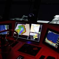 Vessel equipment specifiers from across Europe witnessed first-hand the capabilities of Sonardyne's NOAS as an important new aid to vessel navigation and underwater obstacle avoidance (Photo: Sonardyne)