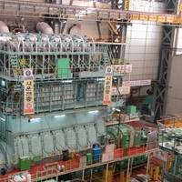 View of the new 7G80ME-C9.2 engine on the testbed in Korea