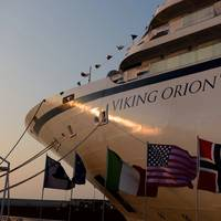 Viking Orion, the fifth oceangoing cruise ship for owner Viking Cruises, was delivered June 7 from Fincantieri's shipyard in Ancona (Photo: Fincantieri)