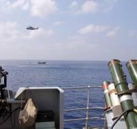 Warship Drug Arrest: Photo courtesy of UK MOD