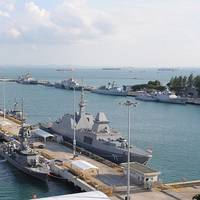Warships berthed at Changi Naval Base for IMDEX Asia 2013 (Photo: IMDEX Asia)