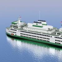 Washington State Ferry Depiction