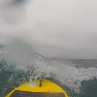 Waveglider in rough seas