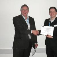 """We were delighted to sponsor the prize for best poster,"" said Chelsea's Technical Director, Dr John Attridge (left). ""For nearly 50 years we have been developing a wide range of in situ sensors and systems and maintain a keen interest in the development and commercialisation of new technologies""."