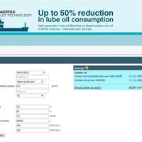 Website screen grab of the SEA-Mate Value Calculator (Image: Maersk Fluid Technology)