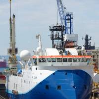 WG Cook in for refit at Gibdock