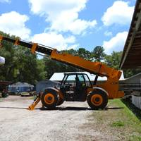 When the crew at O'Quinn Marine Construction put its new JCB telehandler to use, they were amazed at its ability to maneuver around small areas while easily lifting up to 14,000 lbs. (Photo: JCB North America)