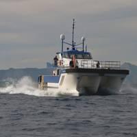 Wind Farm Support Vessel: Photo courtesy of Tidal Transit