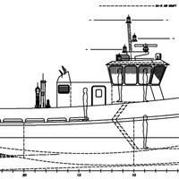 Workboat final profile arrangement.