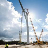 World's Largest Offshore Wind Turbine Rotor: Photo credit Siemens Energy