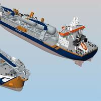 Wärtsilä LNG fuel storage and supply system for two new trailing suction hopper dredgers. Copyright: Van Oord
