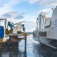 Wärtsilä's wireless charging system is the first in the world to operate successfully with a coastal ferry.  (Photo: Wärtsilä)