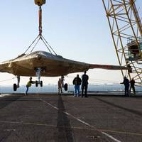 X-47B Unmanned Combat Aircraft: Photo credit USN
