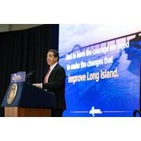 Governor Andrew M. Cuomo delivered his 2017 regional State of the State address at Farmingdale State College.  (Photo: Office of Governor Andrew Cuomo)