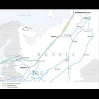 Bovanenkovo – Ukhta 2 gas pipelines Map courtesy Gazprom