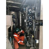 A Nature Group engineer operating one of the company's Compact Treatment Units (CTU) (Photo: Nature Group)