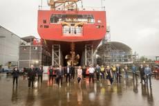 Video: Seaspan Shipyards Launches CCGS John Cabot