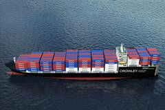 Construction Starts on Crowley's 2nd LNG ConRo Ship