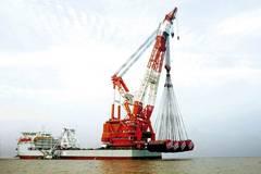 Azipod Retrofit for Mega-crane Vessel