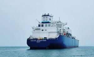 The Samsung-built GasLog Georgetwon starts sea trials off the coast of South Korea (Photo: GasLog)