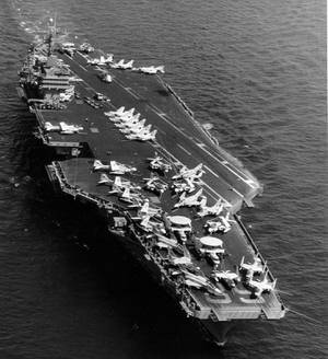 Overhead view of the Nimitz-class (US Navy photo)