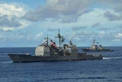 Ticonderoga-class USS Cowpens: Photo credit USN