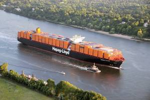 The DNV GL classed Hamburg Express is the 13,200 TEU flagship of Hapag-Lloyds fleet.