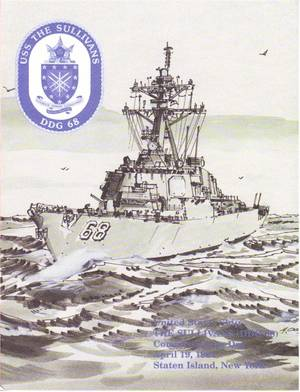 Program for the Commissioning Ceremony held of the USS The Sullivans DDG-68, held at Staten Island, New York on April 19, 1997.
