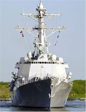 USS Mason (DDG 87). (U.S. Navy photo by Cliff Steenhoff)