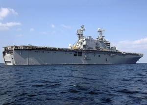 Official U.S. Navy file photo of of the amphibious assault ship USS Saipan (LHA 2)