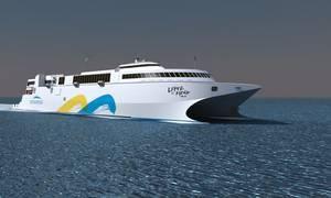 Incat LNG Fast RoRo: Image credit Incat