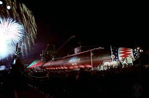 Christening Ceremony of the Cheyenne (SSN-773) (Photo by Jim Hemeon, courtesy of General Dynamics Electric Boat)
