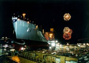 USNS Soderman (T-AKR-317) launching ceremony (Photo: NASSCO)