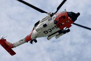 (U.S. Coast Guard stock photo:  MH-60 Jayhawk helicopter)